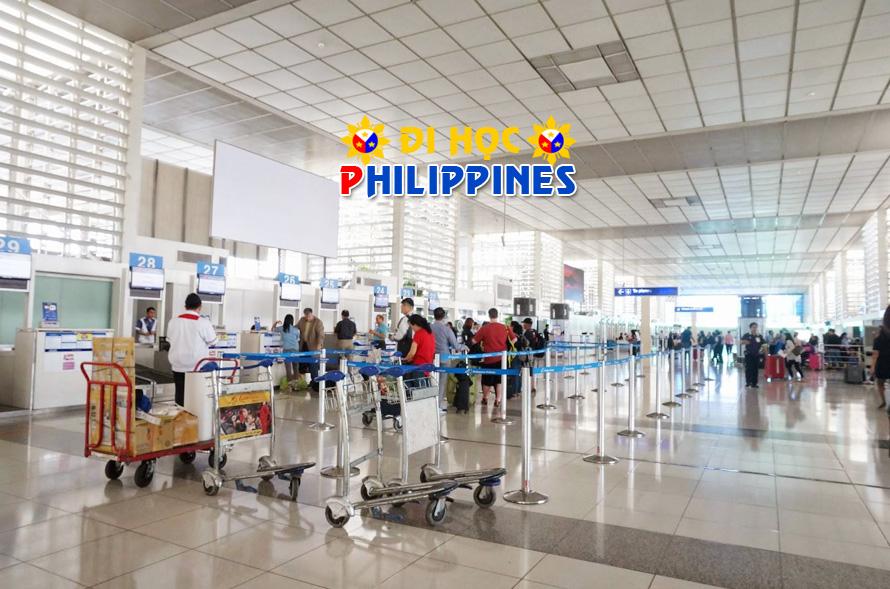 Quá cảnh tại sân bay Manila khi du học Philippines học tiếng anh