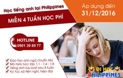 Ưu đãi du học Philippines cuối năm 2016 tại Du học Việt Phương