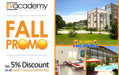 Du học Philippines ưu đãi học phí của Học viện anh ngữ EV