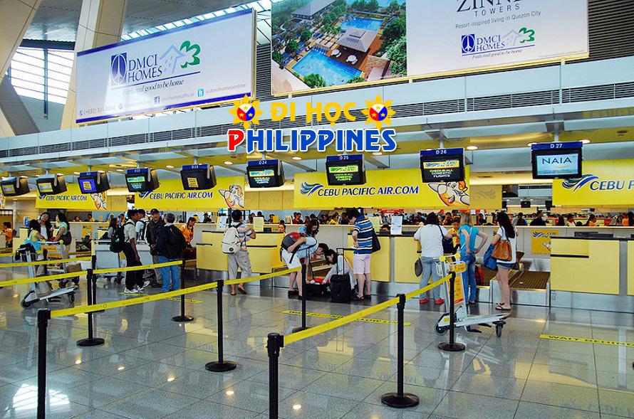 Những điều cần lưu ý khi đến sân bay Manila hoặc Hồng Kong khi đi du học Philippines học tiếng anh