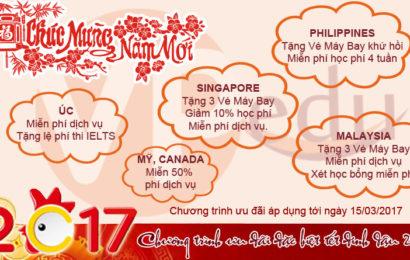 Chương trình ưu đãi đặc biệt chào mừng xuân Đinh Dậu 2017